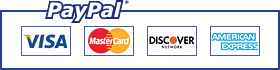 We accept payments via PayPal and all major credit cards
