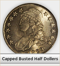 Capped Busted Half Dollars