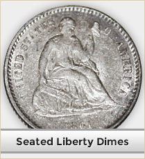 Seated Liberty Dimes