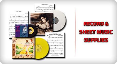 Shop Record & Sheet Music Supplies